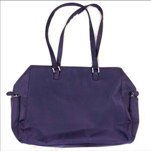Merona Purse Overnight Tote Purple Book Bag